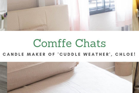 Cuddle weather, soy candle, scented candle, bedding review, buying bedsheet in Singapore, comffe, comffe singapore, how to style your bedroom singapore, comffe bedding,